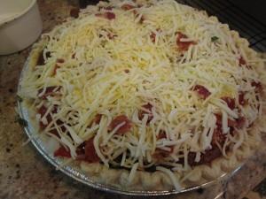 Final tomato pie pre-oven