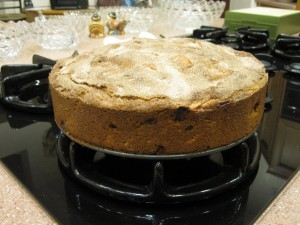 Apple Cake out of the oven
